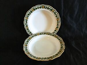 Antique Meissen Hand Painted Sup Plates From 19 Century Sold By Collamore Co