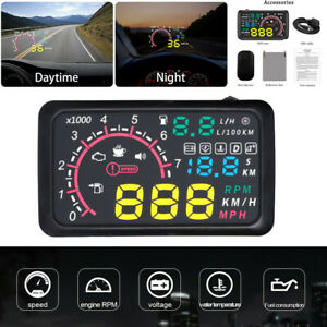 5 5 Car Obd2 Hud Head Up Display Fuel Consumption Speed Warning System Cable