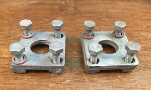 Porsche 356 Door Hinge Backing Plates And Shims W Original Hardware Bolts