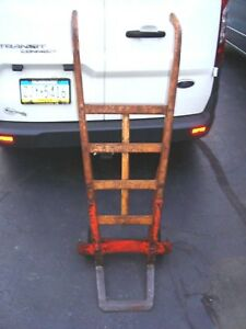 Antique Industrial Dolly Warehouse Cart Hand Truck Orange Ville