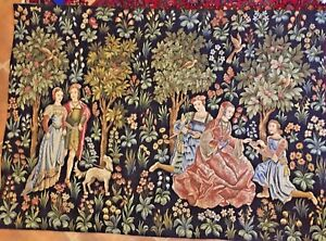 French Tapestry Point De L Halluin 3168 Scenes Galantes 51x73 Botanical 1796