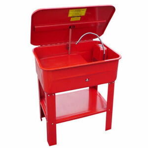 20 Gallon Automotive Parts Tool Washer Cleaner W Electric Pump General Purpose