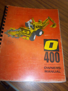 Omsteel O 400 Tractor trencher backhoe Operation maintenance part Manual wiring