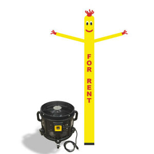For Rent Air Inflatable Sky Puppet Great Dancer 20ft Yellow 3 4 Hp Blower