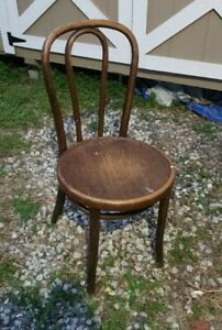 Vintage Bentwood Parlor Bistro Cafe Side Chair Thonet