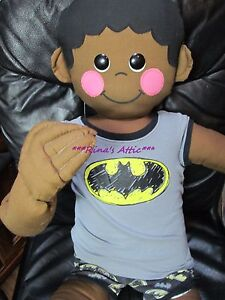 Vintage 1977 Boogie Bear s Design Aa African American Boy Cloth Mannequin Doll