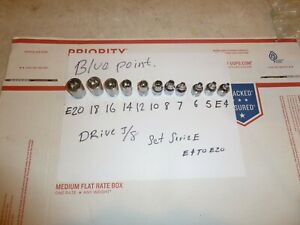 Blue Point Tools By Snap On 3 8 Drive Inverted Torx Socket Set E4 E 20 47