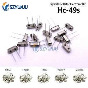 Hc 49s Dip Crystal Oscillator Electronic Kit 20 Value 4mhz 8mhz Assorted Set