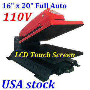 Usa 16x20in Fully Auto Electric T shirt Heat Press Sublimation Transfer Machine