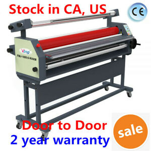 Us 63 Full auto Wide Format Roll Heat Assisted Cold Laminator With Stand 110v