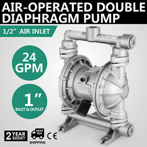 Air operated Double Diaphragm Pump 1in Inlet outlet 24 Gpm Double Diaphragm