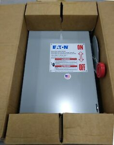 Eaton Dh363frk Safety Switch 100a 3p 600vac 250vdc Type Dh Fusible Nema