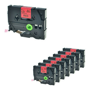 8 Packs Tze421 Tz421 Black On Red Label Tape For Brother P touch Pt 340 9mm 3 8