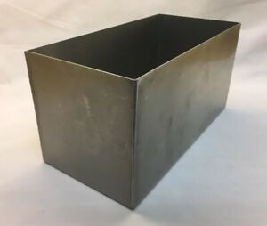 18 Gauge 304 Stainless Steel Open Top Rectangular Storage Box Bin