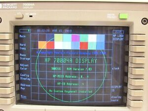 Hp Agilent 70004a Color Display And Mainframe