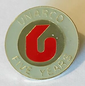 Unarco Five Years Advertising Pin Badge Rare Vintage h5