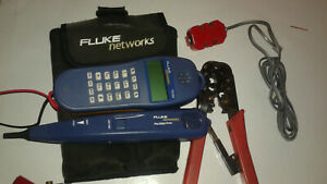 Lot Fluke Networks Tools With Case T525d Pro3000 Probe Banjo 4 Modular Crim
