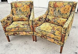 Exceptional Pair Of Rose Tarlow Melrose House L A Floral Down Lounge Armchairs
