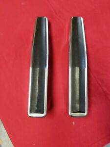 87 91 Ford Bronco F150 250 Truck Chrome Bumper Guards Bumperettes Pair