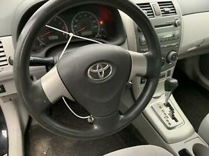 09 10 11 12 13 Toyota Corolla Steering Wheel With Bag Black Oem