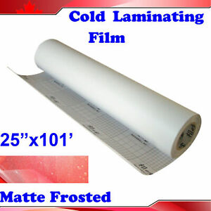 0 69 31yard 3mil Matte Frosted Vinyl Cold Laminating Film Laminator