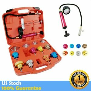 14pcs Auto Radiator Cap Pressure Testing Tester Cooling System Test Detector Set