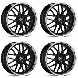 4 new 18 Enkei Lusso Wheels 18x8 18x9 5x114 3 40 40 Black Paint Staggered Rims