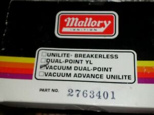New In Box Mallory 2763401 Dual Point Distributor Oldsmobile V 8 Made In Usa