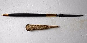 New Tombak Spear From Java No Kriss Kris Krissen Gold Plated Scabbard Cpr877