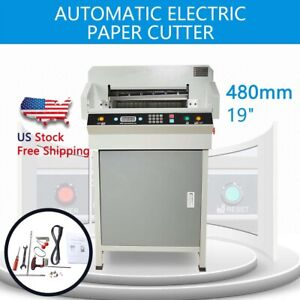 480mm 19 Heavy Duty Automatic Electric Paper Cutter Cutting Machine Adjustable
