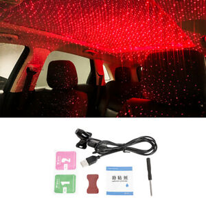 Usb Red Led Projector Star Light Car Interior Atmosphere Ambient Lamp Sky Type