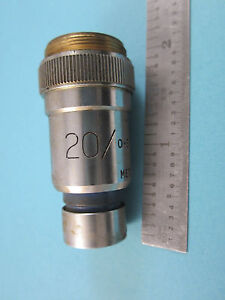 Vickers England Uk Microscope Objective 20x Optics Part