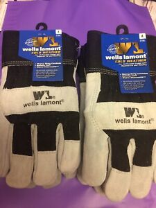 4 Pair Lot Of Wells Lamont Warm Thermofill Cold Weather Gloves Size Large 5136l