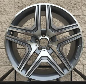 22 Mercedes Benz Wheels For Gl450 Gl550 Ml63 Ml350 Ml500 Ml55 Gunmetal Machine