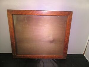 Antique Wood Picture Frame W Glass 13 5