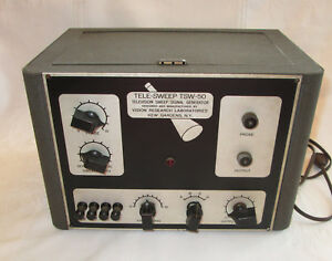 Rare Vintage Tele sweep Tsw 50 Tv Television Sweep Signal Generator