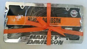 Harley Davidson Car Truck Suv License Plate Frame Chrome Raised Lettering Chroma