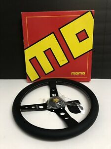 Momo Steering Wheel Prototipo Black Leather 350mm Genuine Pro35bk2b