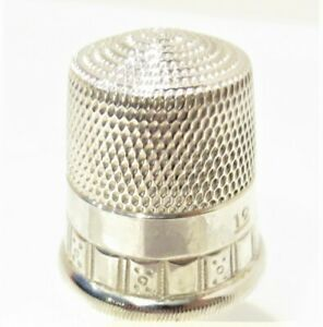 Antique Vintage Sterling Thimble Simons Brothers Pa Ornate Size 12