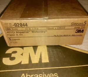 3m 02044 Imperial Wetordry 5 1 2 X 9 2000a Sand Paper 250pc 5x50 Sheet Packs