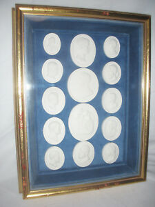 Framed Set Of 14 19th Century Grand Tour Intaglios