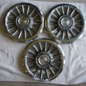 Set Of 3 1965 Pontiac Motor Division Tempest 14 Hubcaps Wheel Covers
