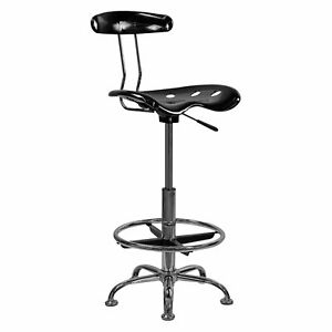 Adjustable Height Drafting Stool With Tractor Seat Multiple Colors