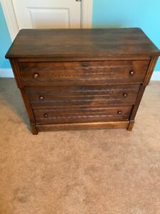 Antique Victorian Eastlake Chest Dresser Solid Walnut Ca 1800 Wood