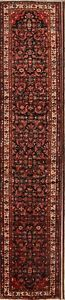 Geometric Palace Sized 3x17 Wool Persian Malayer Hamedan Oriental Runner Rug