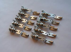 10 Chicago Ace Ii Tubular Cam Lock Cylinders Vending Store Toolbox Key Alike