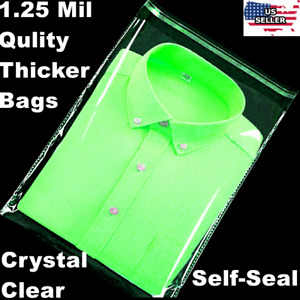 300 9x12 1 25 Mil Bags Resealable Clear T shirt Catalog Plastic Opp Cello Bag