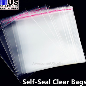 2000 1 25 Mil 9x12 Bags Resealable Clear T shirt Clothes Plastic Opp Cello Dress