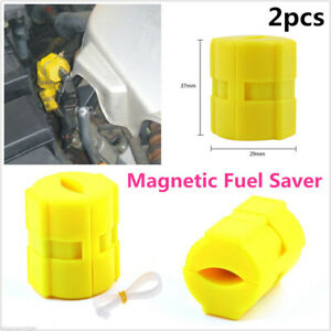 2x Magnetic Fuel Saver For Vehicle Gas Universal Reduce Emission Lc