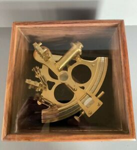 Nautical Ship Sextant Polish Brass Marine Antique Maritime Collectable Steampunk